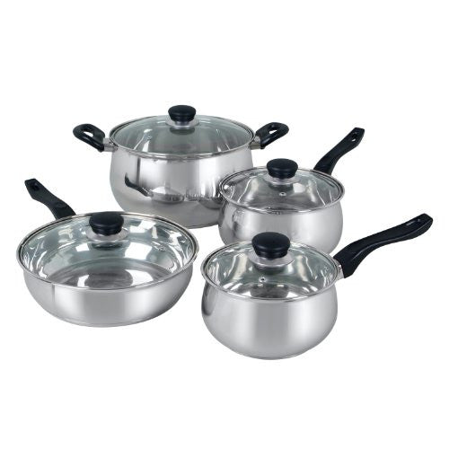 Gibson Oster Rametto Stainless Steel 8-Piece Cookware Set