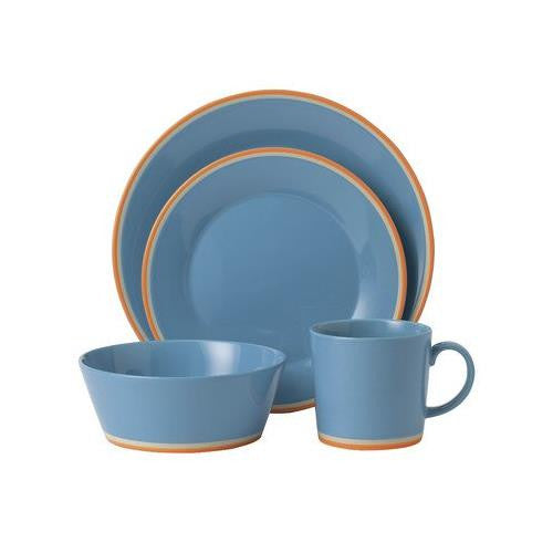 COLOURS BLUE 4-PIECE PLACE SETTING