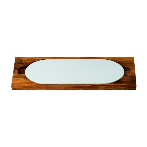 BREAD STREET WOOD CUTTING BOARD WITH CERAMIC CHEESE SLAB