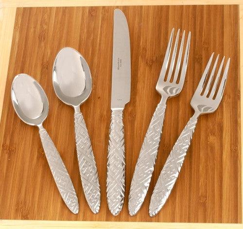 Reed & Barton English Braid 5 Pc Flatware set