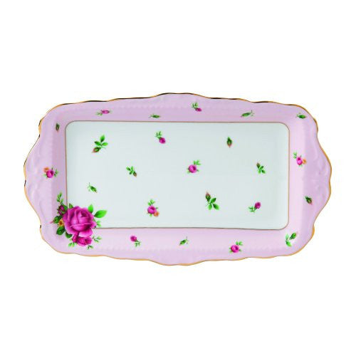 Royal Albert NEW COUNTRY ROSES PINK SANDWICH TRAY