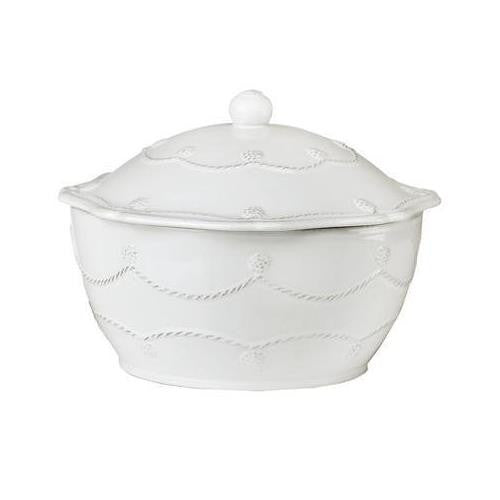Berry and Thread Covered Casserole - Small - Whitewash