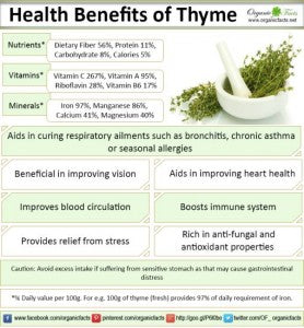 health benefits of thyme oil