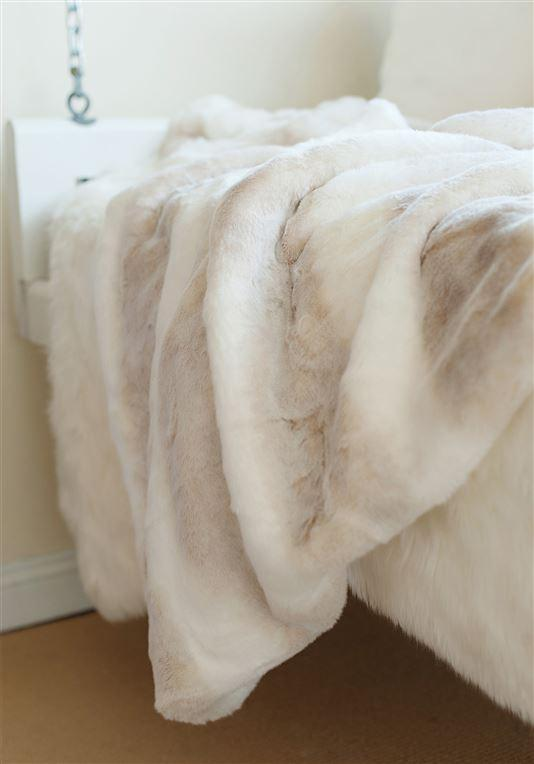 Iced Faux Mink Couture Throw 60x60