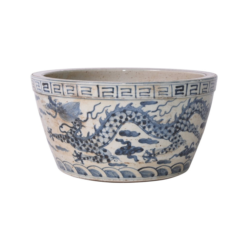 B&W Ming Dragon Bowl 12x12x7h