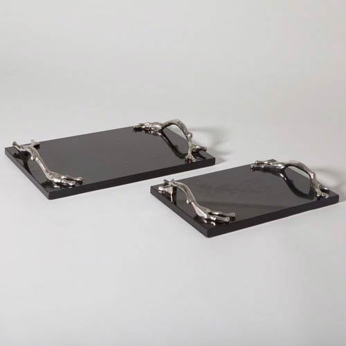 Twig Tray Nickel/Black LARGE