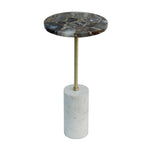 Black Agate Accent Table 12diax24h
