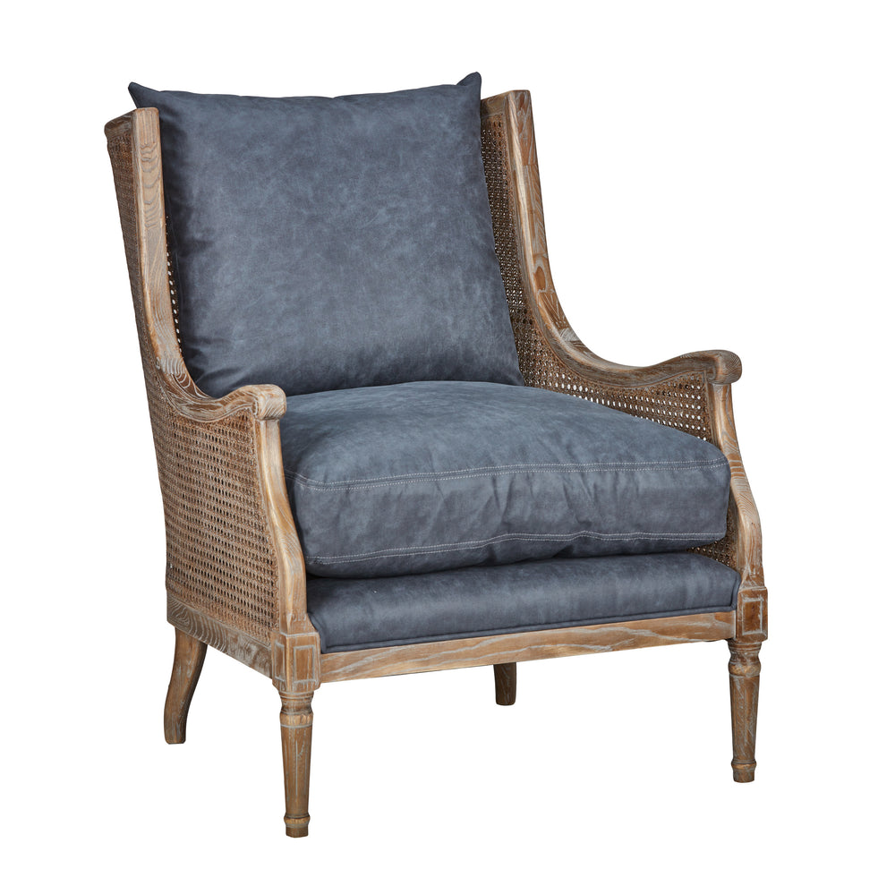 Club Chair Blue 30w32d35h
