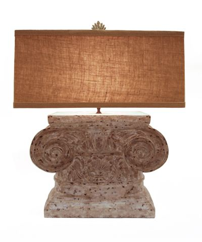 Doric Capital Lamp 24x12x28h