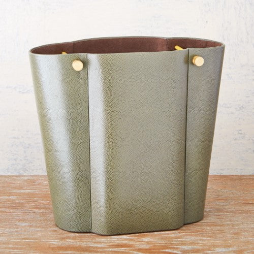 Wastebasket-Olive Pebble