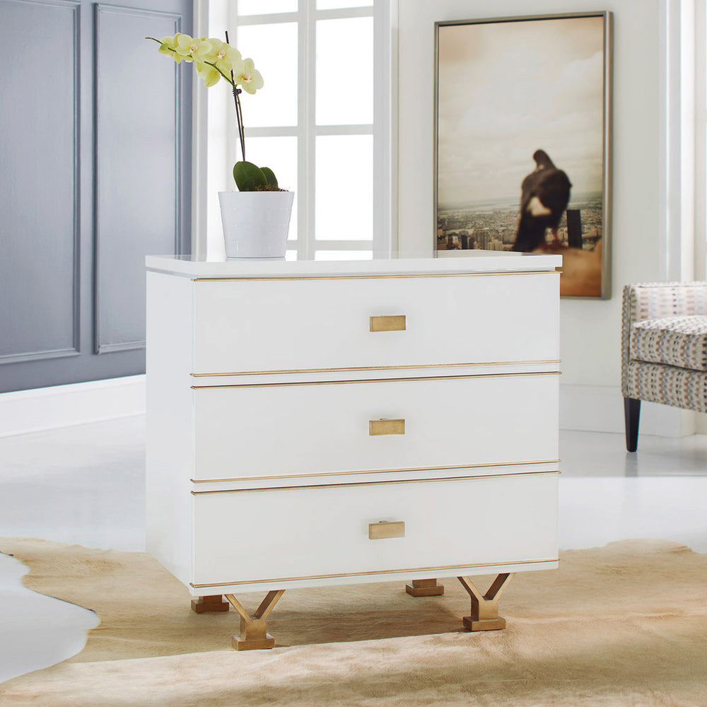 Linear Bedside Chest 32x18.5x32.25h