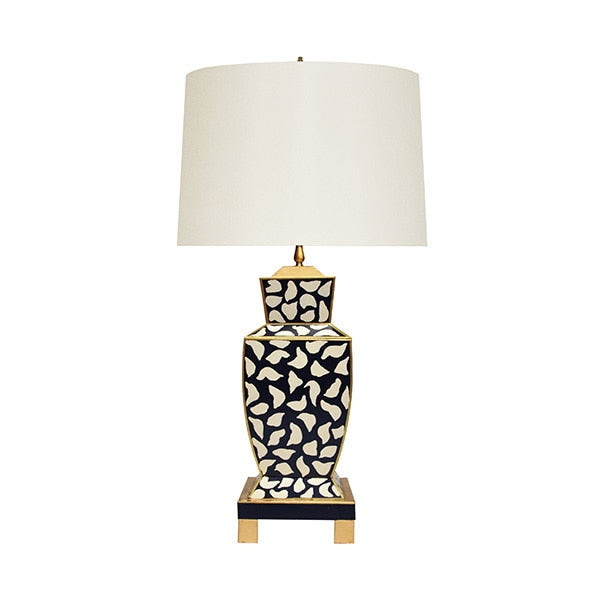 "Hand Painted Leopard Lamp 32""h"