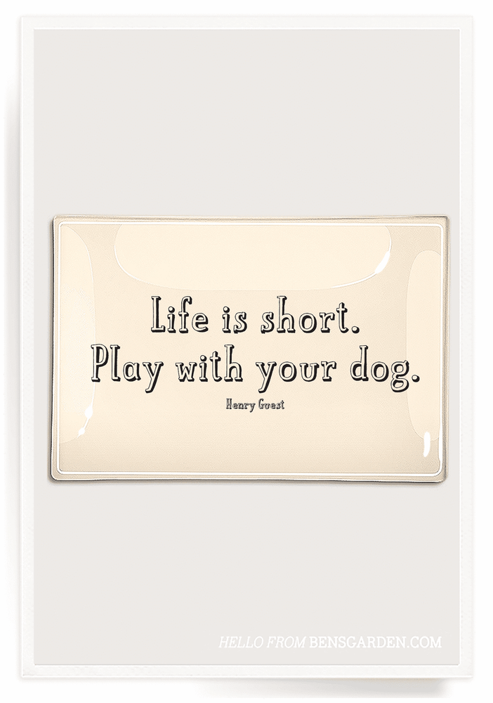 Life Is Short Play 4x9 Decoupage Tray