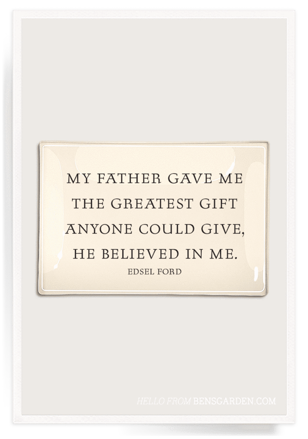"""My Father Gave Me"" 4x9 Decoupage Tray"