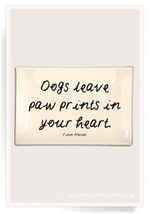Dogs Leave Pawprints 4x9 Decoupage Tray