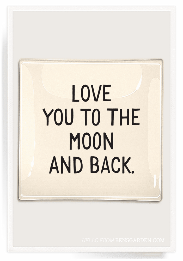 """Love You To The Moon"" 8x8 Decoupage Tray"