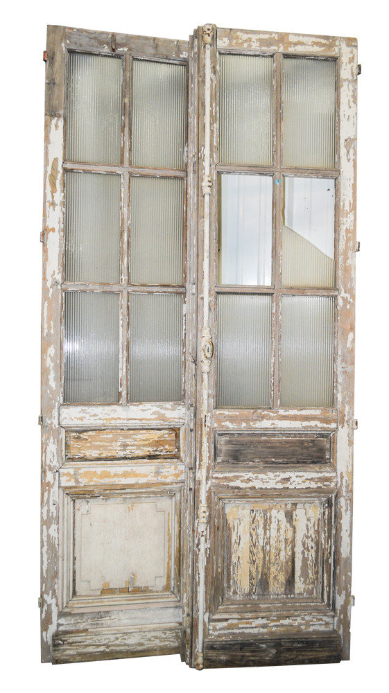 Antique French Doors PAIR 106x27each