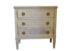 Pale Gray Nightstand 30x15x32h
