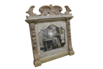 Carved Mantle Mirror 53h 50w