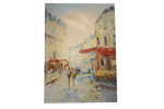 Paris Abstract Oil 30x40 Unframed