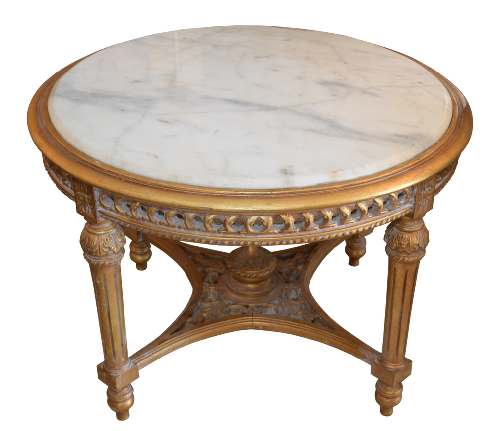 Marble Top Cocktail Table 34x24h