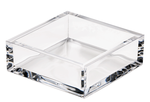 Acrylic Cocktail Napkin Holder Clear