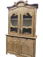 "Antique Bleached Hutch 94.5""h"