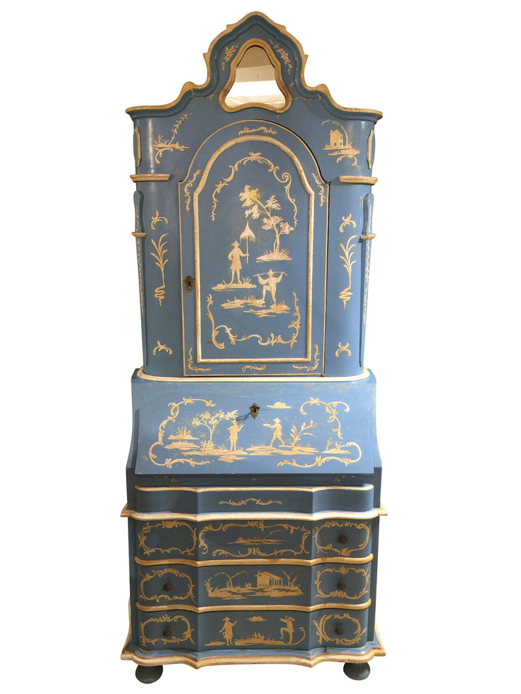 Antique Chinoiserie Secretary 86x34x18
