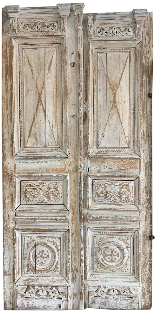 White Wash Door Set 28x108ea