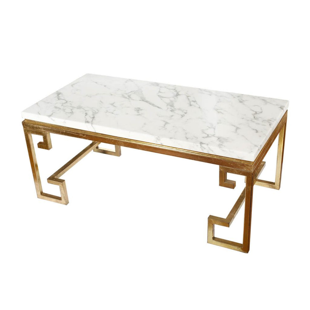 Marble Cocktail Table 44x22x19