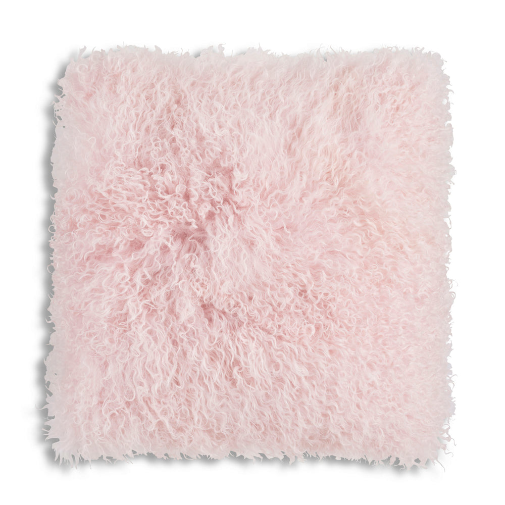 Pink Tibetan Lamb Pillow 20x20