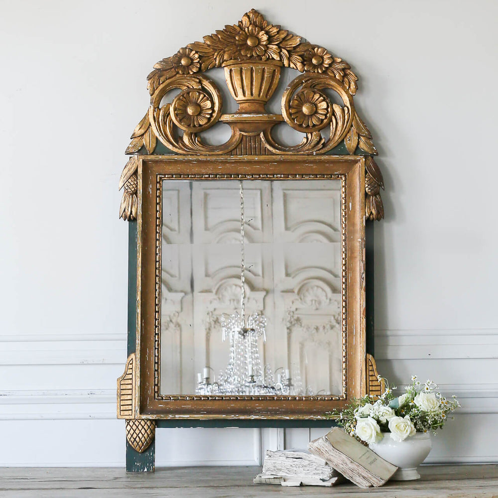 Antique Gilt Provincial Mirror 31x54h