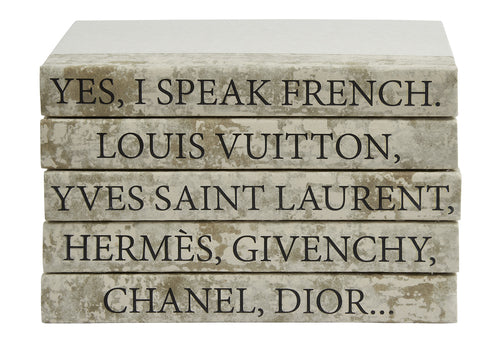 5 Vol- I Speak French Gold/Off White