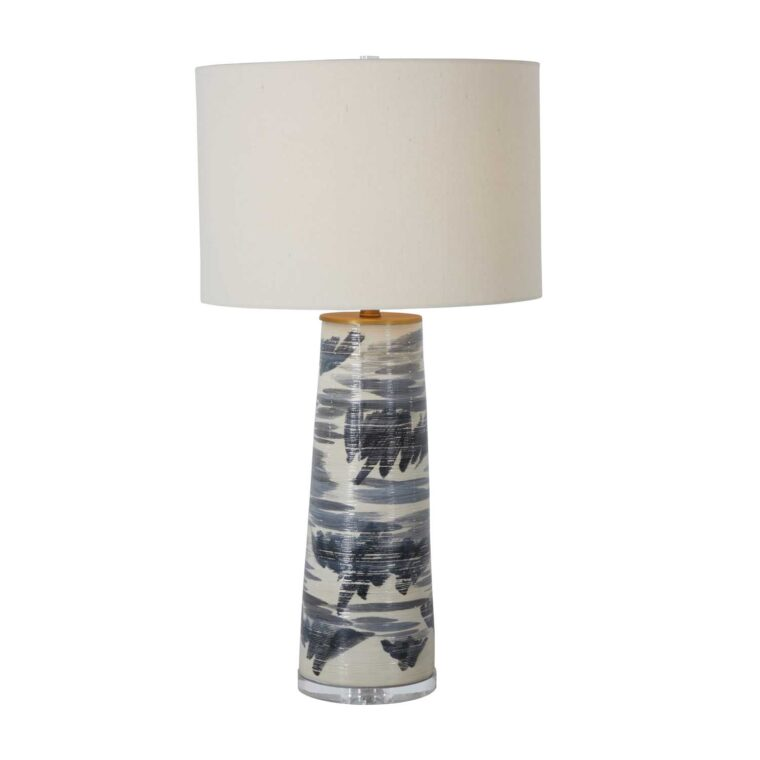 Elle Table Lamp Black 32h