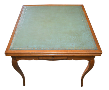 Leather Game Table 32x32x29.5h