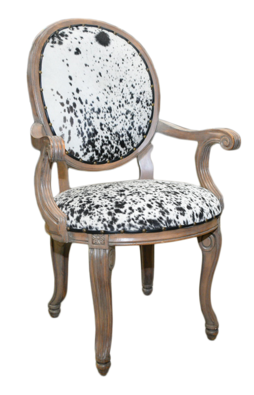 B&W Cowhide Chair 26x25x41h