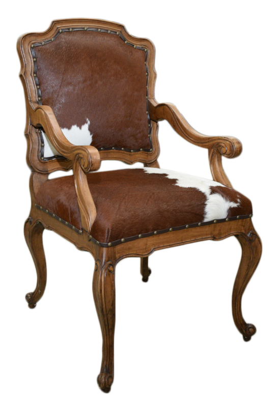 Syrup Cowhide Chair 23x24x41h