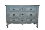 Antique Blue Chest 53x25x35h