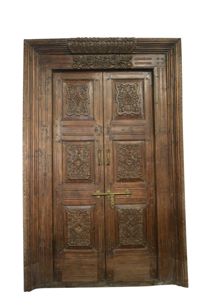 Teak Doors w/ Surround-5 59.5x93h