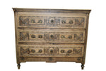 Carved Bleached Chest 44x20.5x36h