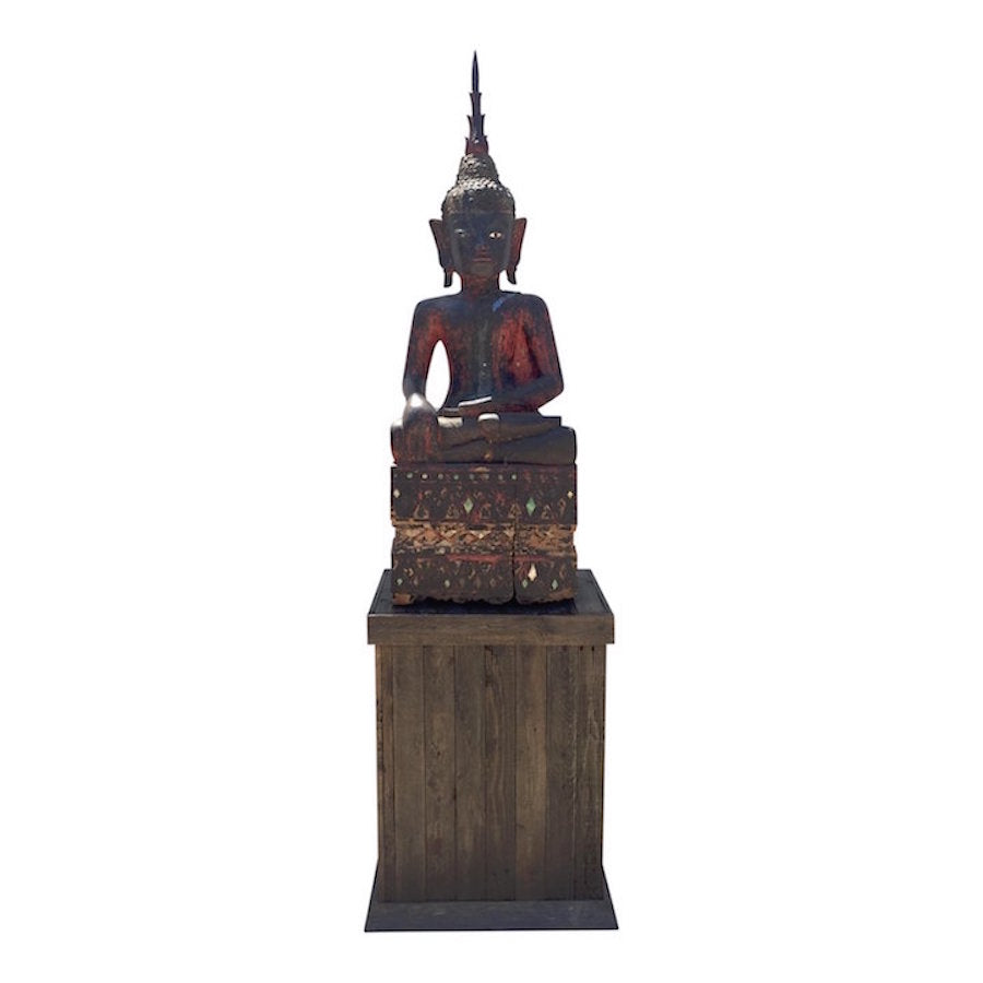 Thai Buddha on Plinth 22x17x63