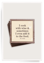 """I Cook With Wine"" Coasters"