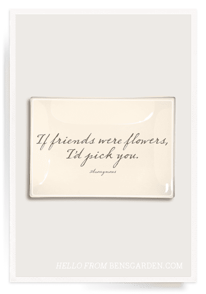 If Friends Were Flowers 4x9 Decoupage Tray