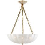 "Strie Glass Chandelier LG 21""dia 30.25""h"