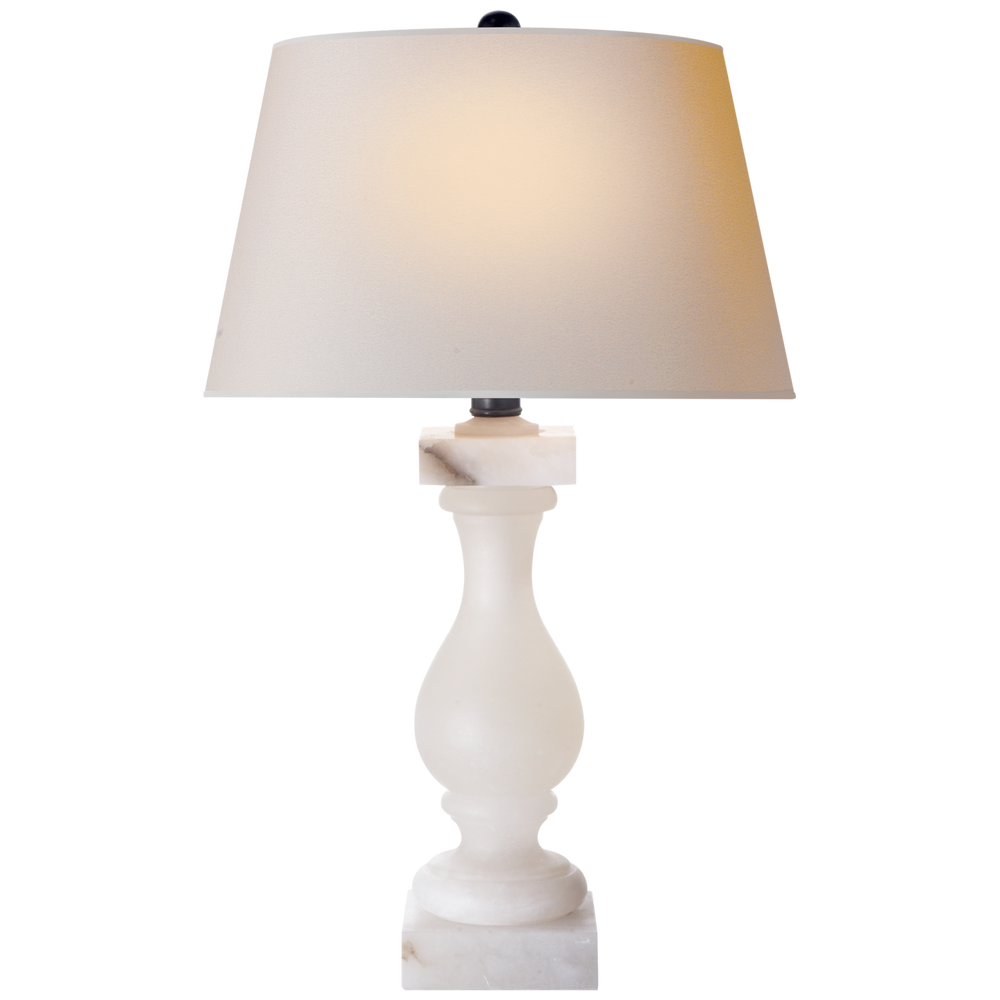 "Alabaster Balustrade Lamp 27""h"
