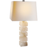 "Stacked Alabaster Lamp 31""h"
