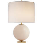 "Blush Glass Lamp 25.5""h"