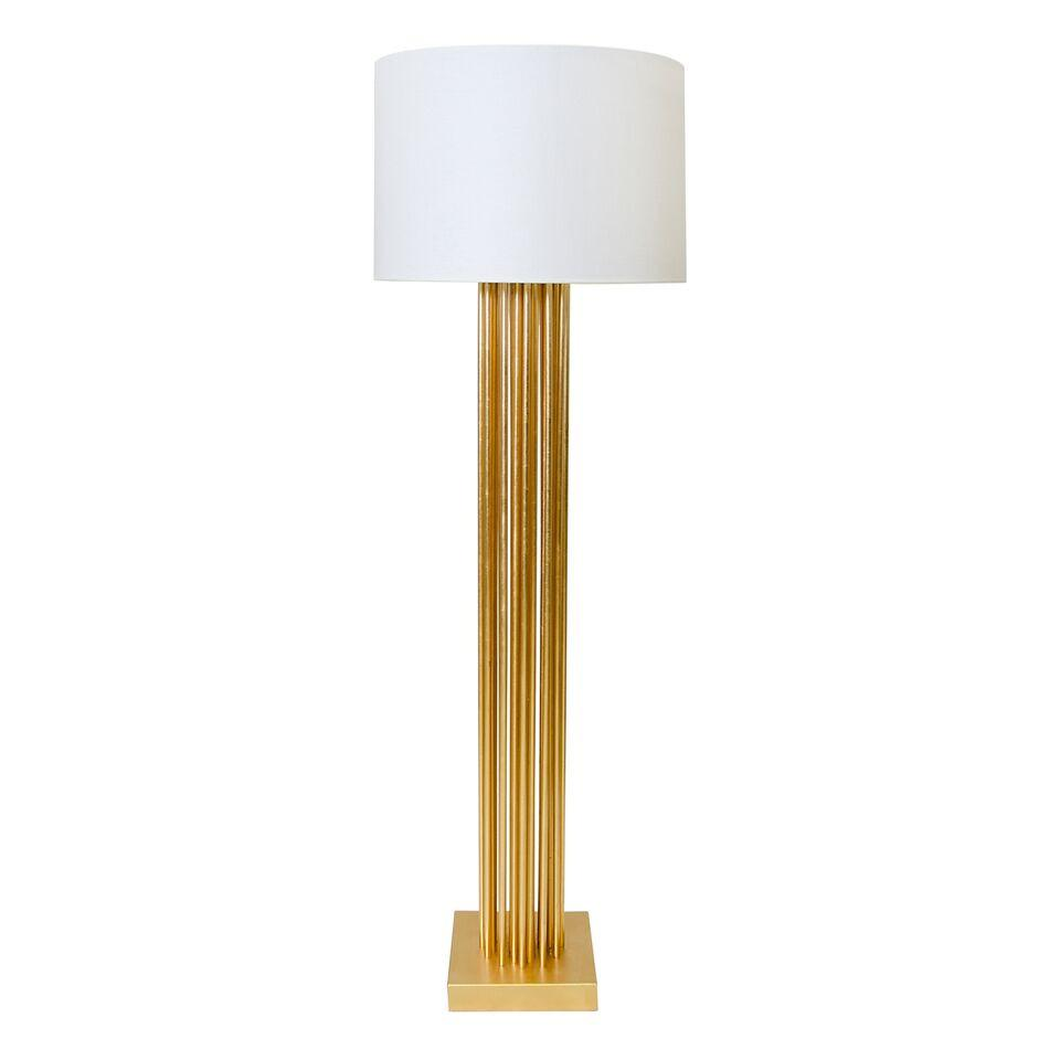 "Gold Pipe Floor Lamp 62""h20""shade"