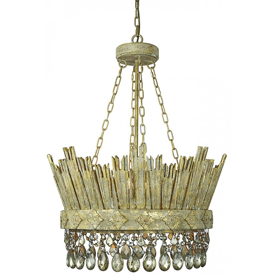 Carved Corona Chandelier 24diax29h