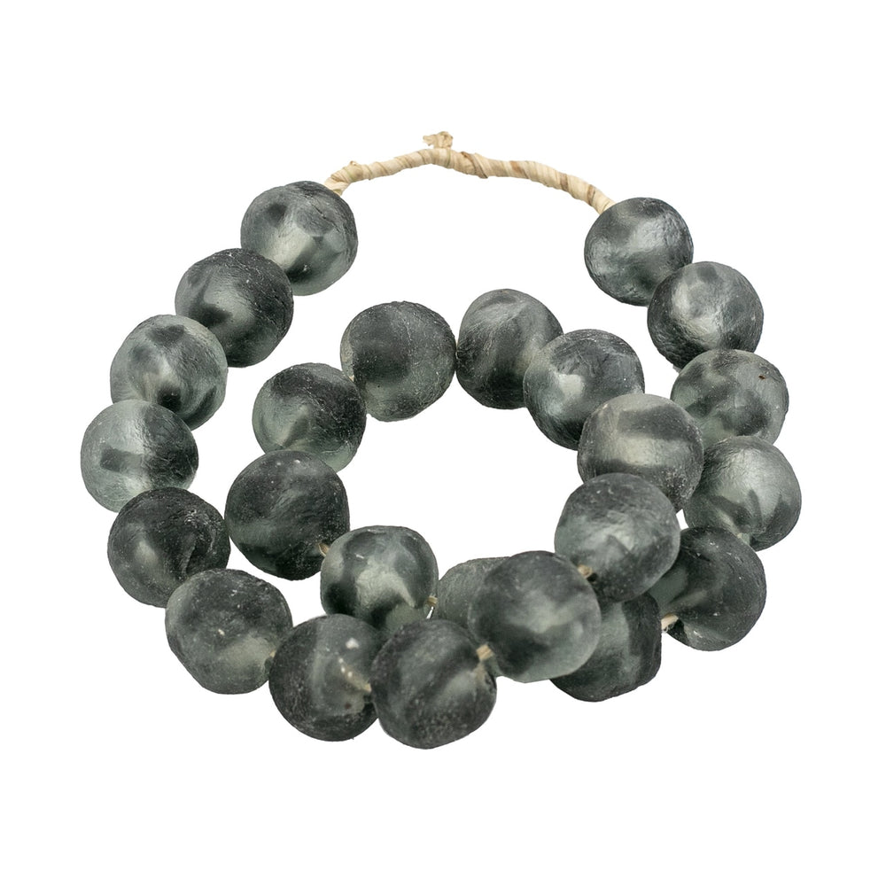 Sea Glass Beads 1.25 Frosty Charcoal